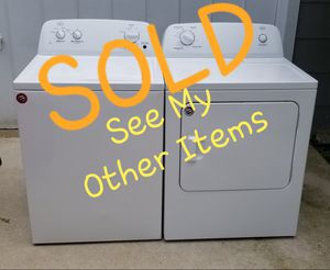 🌟Like NEW🌟 Amana Whirlpool 💦Washer 💨Dryer Laundry Set for Sale in Portsmouth, VA