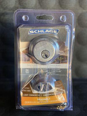 Schlage Satin Chrome Double Cylinder Deadbolt for Sale in Redlands, CA