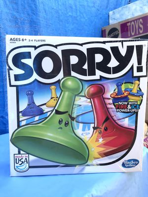 Sorry Board Game 2013 New for Sale in Irwindale, CA