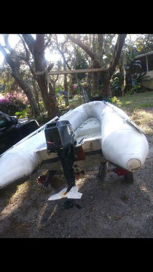Dinghy fiberglass hull 15 mercury for Sale in Ruskin, FL