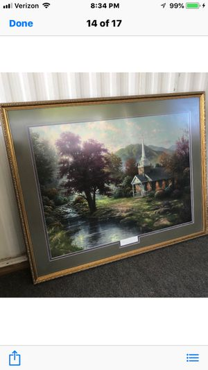 Thomas Kinkade lithograph framed for Sale in Young, AZ