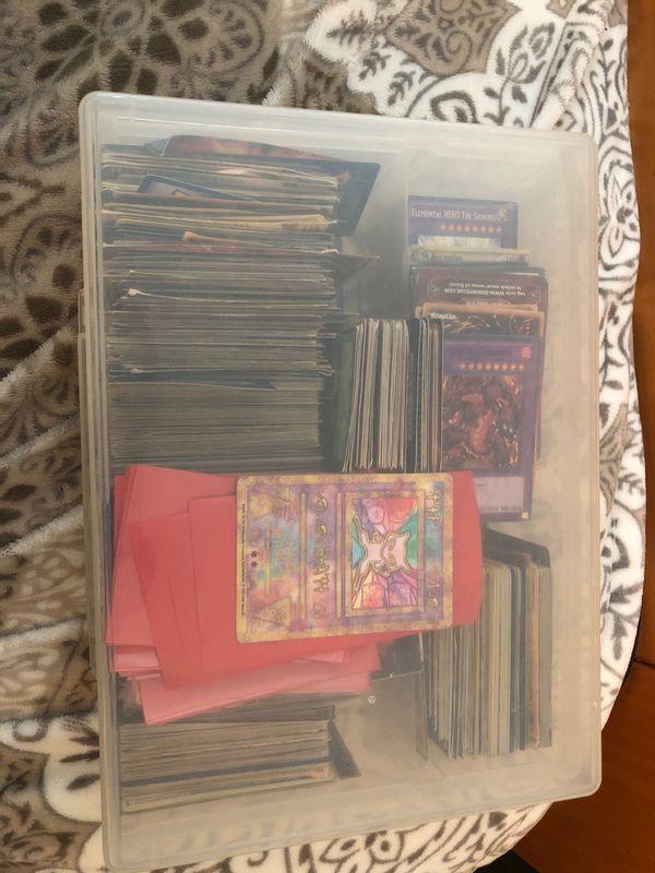 Yugioh and a few Pokémon cards