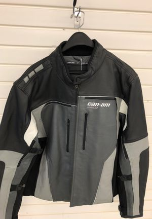 Can am sounder leather motorcycle jacket for Sale in Palm Harbor, FL