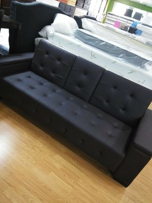 All new brown leather futon sofa for Sale in Moreno Valley, CA