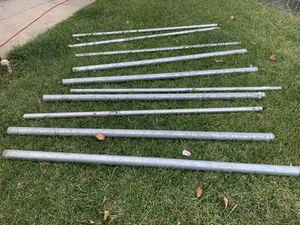 Ten metal fence post 6' for Sale in Danville, CA