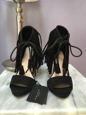 Zara Fringe Heels 36/6/6.5 for Sale in Boston, MA
