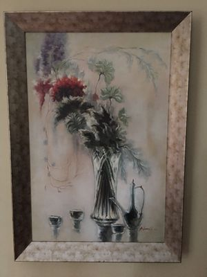 "Canvas oil painting by P. Donald, size 40""x28"" with the frame for Sale in Fairview, OR"