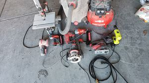 Craftsman power tools air compressor shop vac Band ,saw Other sortment of tools for Sale in North Las Vegas, NV