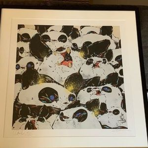 Angry Woebots Woes [GOLD] Hand Embellished Framed 1 of 3 Basel Edition Fur&Fang3 for Sale in Los Angeles, CA