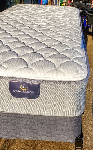 Serta Perfect Sleeper Bayport model Twin XL Mattress, Box Springs, & Bed Frame. for Sale in Westerville, OH
