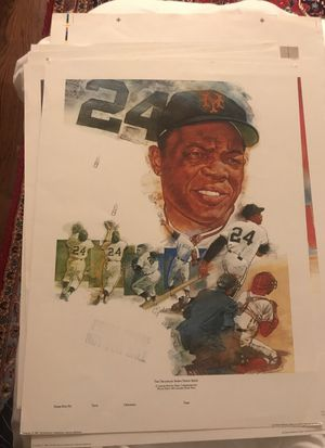 Rare collection of Press Proof baseball prints posters from 1984 for Sale in Potomac, MD