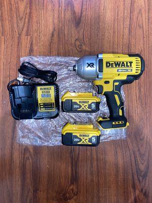 """(1)Dewalt 20v Max XR Brushless 1/2""""impact wrench (DCF899B ) (2) dewalt 20v XR max 5.0 Ah Battery (DCB205) (1) 12v/20v Charger for Sale in The Bronx, NY"""