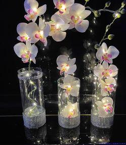Silk Orchids Glass Vases LED Lights for Sale in Herndon,  VA