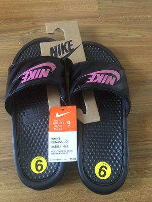 Nike slide in sandals - Women's size 9 for Sale in Corona, CA
