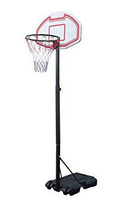 "New $45 Kids Junior Sports Basketball Hoop 28x19"" Backboard, 5ft-7ft Adjustable Stand w/ Wheel for Sale in Whittier, CA"