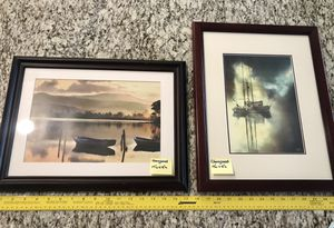 Boat artwork nautical cherrywood frames nice... see my other items for sale for Sale in Menifee, CA