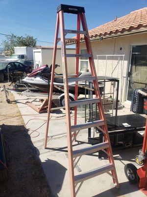 Werner 8 foot fiber glass ladder great condition for Sale in Las Vegas, NV