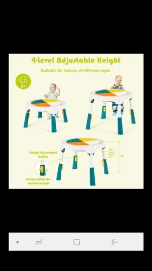 KIDS ACTIVITY PLAY TABLE WITH CHAIR for Sale in Santa Ana, CA