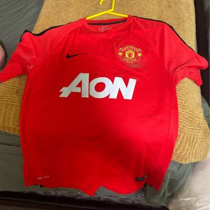 Nike Manchester United Soccer Jersey Size Large Fits A Medium for Sale in Chico, CA