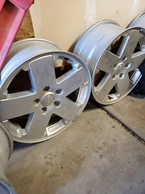 18 inch Jeep Sahara Wheels- No TPS for Sale in Commerce City, CO
