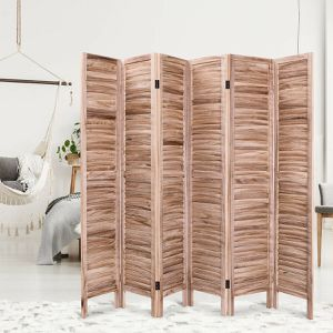 6 Panels Classic Venetian Wooden Slat Room Screen for Sale in Cutler, CA