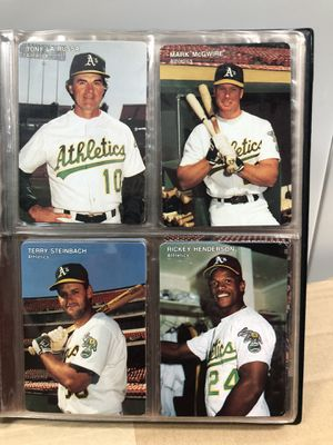 Oakland A's 1991 Mother's Cookies Baseball Card Set with Collectors Album *EXCELLENT CONDITION * for Sale in Hayward, CA