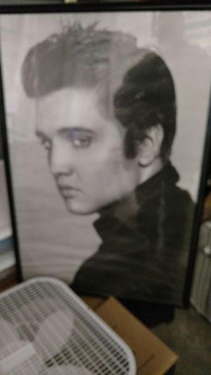 Poster size Elvis picture in frame. for Sale in Kingsport, TN