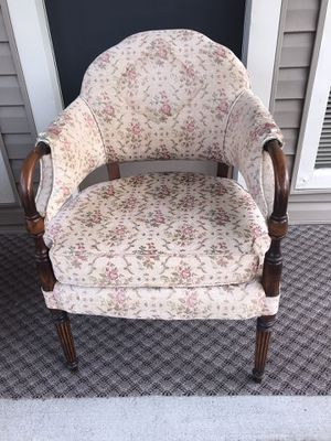 Vintage Parlor Arm Chair Antique Furniture Upholstered Accent for Sale in Odessa, FL