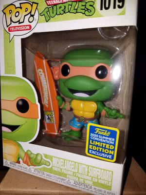 Funko pop Michelangelo sdcc surfboard cowabunga teenage mutant ninja turtles tmnt for Sale in Ontario, CA