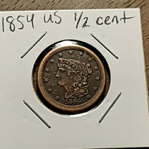 1854 US half Cent for Sale in Sebring, FL