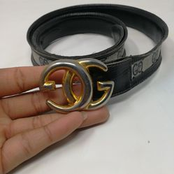 Rare Vintage Gucci 1970s Skinny Navy Monogram Belt for Sale in Murfreesboro,  TN