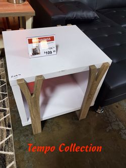NEW, End Table, White and Dark Taupe , SKU# 171961ET for Sale in Huntington Beach,  CA