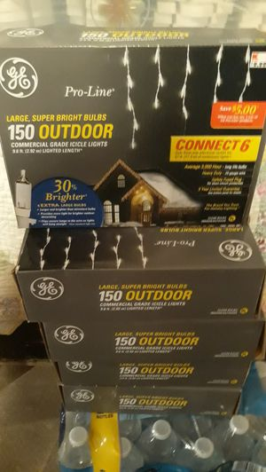 New 5 boxes icicle lights for Sale in Butte, MT