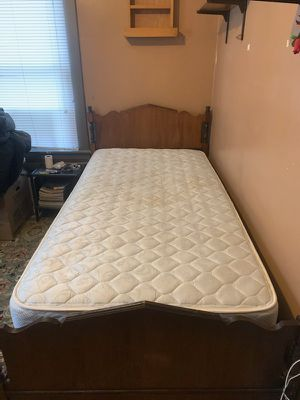 Twin bed set including frame & headboards for Sale in Elyria, OH
