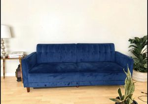 Mid century style couch sofa futon for Sale in Portland, OR