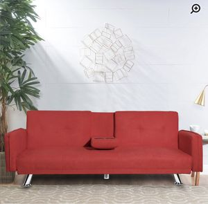 NEW RED SOFA BED W/ CUP HOLDERS for Sale in Walnut, CA