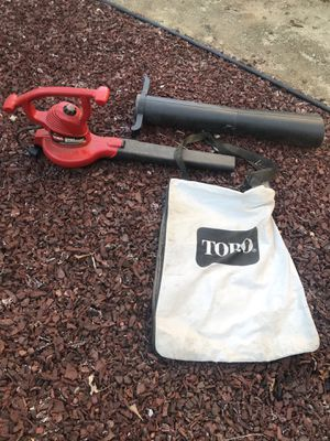 Toro electric leaf blower and vacuum combo for Sale in Escondido, CA