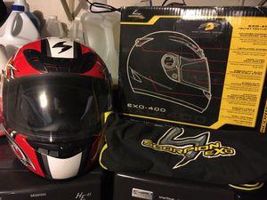 Motorcycle helmet, 2in1 women's motorcycle jacket for Sale in Fresno, CA