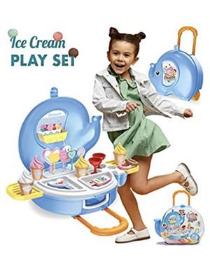 Toys Ice Cream Play Set for Kids - 27pcs Ice Cream Parlor Pretend Play Food Set for Toddlers, Boys & Girls Age 2 3 4 5 +, Ice-Cream Food Trolley Toy for Sale in Chicago, IL