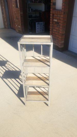 "Nic-Nac table 13"" x 15"" x 41"" metal frame wood shelves for Sale in Gilbert, AZ"