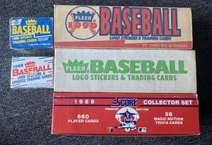 5. 1988 and 1990 Fleer and Score Baseball Cards Sets complete some unopened for Sale in Brea, CA