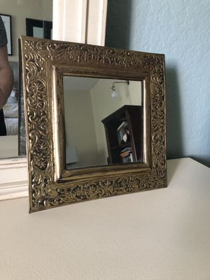 "Vintage / Antique Gold Frame Square Mirror 10.5"" for Sale in Tustin, CA"