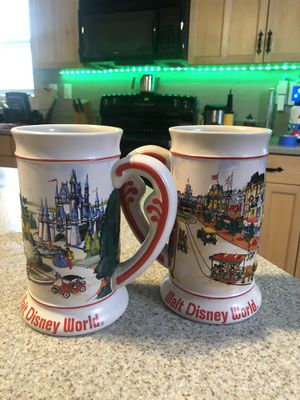 Disney World Vintage Collectible Beer Steins 1980's for Sale in Spring Hill, FL