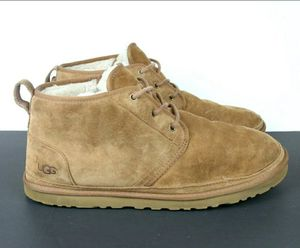 UGG Australia Men's Chestnut Neumel 3236 Chukka Sheepskin Lace Up Shoes Size 15 for Sale in Weston, FL