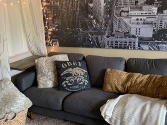 Dark Gray Textured Sofa for Sale in Ontario,  CA