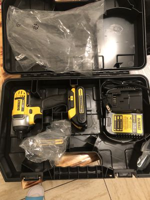 Dewalt new impact drill 20 v two batteries and one charger for Sale in Yonkers, NY