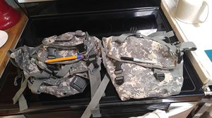 Army molle pouch set backpack for Sale in Houston, TX