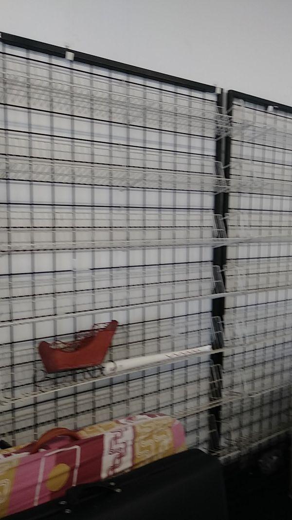 Metal Rack and shelves