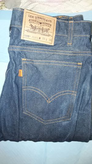 Levi's 505 regular fit straight leg with 30 length 33 perfect condition for Sale in Concord, CA