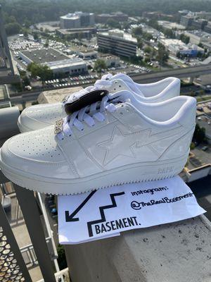 Patent leather A bathing ape bapesta Nike Jordan yeezy for Sale in Vienna, VA